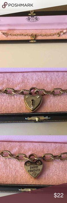 Gold Juicy Couture Charm Bracelet Authentic gold Juicy Couture charm bracelet  Comes in original box Juicy Couture Jewelry Bracelets