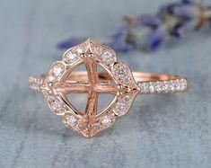 HANDMADE RINGS & BRIDAL SETS by MoissaniteRings on Etsy Bridal Ring Sets, Handmade Rings, Gold Rings, Etsy Seller, Rose Gold, Engagement Rings, Jewelry, Enagement Rings, Jewels