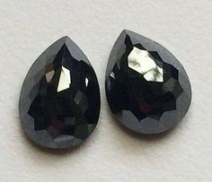 Your place to buy and sell all things handmade Moissanite Earrings, Moissanite Diamonds, Pear Diamond, How To Make Necklaces, Black Diamonds, Diamond Sizes, Buy And Sell, Pairs, Flats