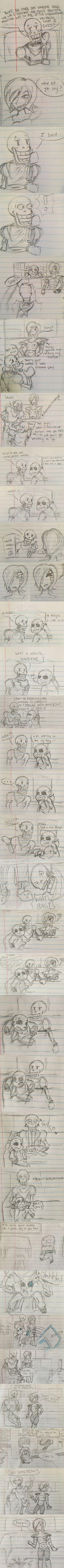 Undertale x Monsters Inc. comic by Aveanna Tomada