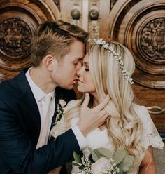 Husband and Wife ~ Our first kiss of many