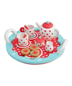 Look what I found on #zulily! Hearts Tea Party Set #zulilyfinds