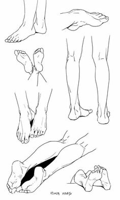 foot pé perna leg reference draw sketch esboço referência desenho