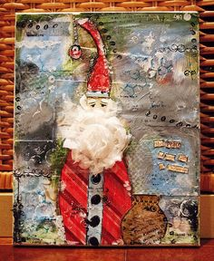 Mixed Media Art: St. Nick    ...BTW,Check this out:  http://artcaffeine.imobileappsys.com