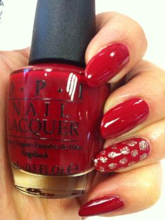 """OPI """"All I want for Christmas is OPI"""" 2013 Mariah Carey Christmas collection. This Chic red creme similar to Rudolphs bright nose . This is this perfect colour to to scare away the winter chill and get you in the party mood .lotus.xx"""