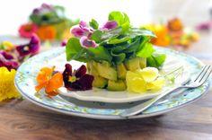 Avocado Watercress Salad with Edible Flowers // Karista's Kitchen