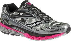 Womens Saucony Ride 8 GORE-TEX Running Shoe - White Black Pink - c0a466a69
