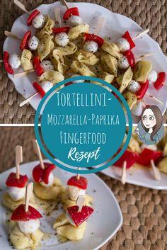 Tortellini Mozzarella Paprika Spiesse Rezept Fingerfood Häppchen Party Partyfood