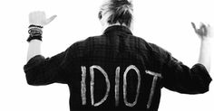 """My favorite part of this video, by far, was the use of Michael's """"Idiot"""" shirt. The way he just turns around and points at it ..."""