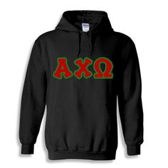 Alpha Chi Omega Bubble Twill Hooded Sweatshirt from GreekGear.com