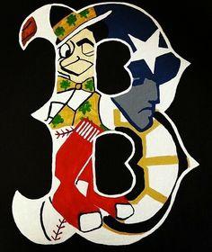 Boston Celtics, Boston Bruins, Boston Red Sox & New England Patriots Boston Sports, Boston Red Sox, Boston Art, Red Sox Nation, Bruins Hockey, Hockey Players, Go Pats, Pokerface, Sports Fanatics