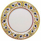 Deruta dinner plate, Perugino pattern