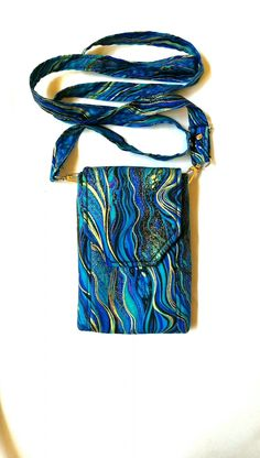 Handmade phone purses, pocket aprons and travel wallets by TraceyLipman Diy Phone Bag, Cell Phone Purse, Diy Bags Patterns, Purse Patterns, Crochet Phone Cases, House Keys, Diy Purse, Marble Pattern, Fabric Bags