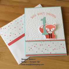 A sweet little card for a sweet little someONE! #foxyfriends#stampinupdemonstrator #stampinup