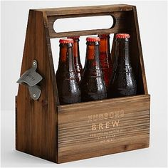 WOODEN BEER HOLDER. Let's face it, every man has a child their inner self, and deep in the heart they always want to be the cool kid who has a classic, cool craft kit that made them look special and powerful.