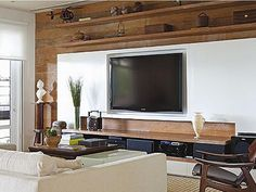 interesting look for tv room