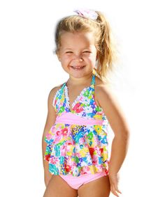Look at this Sun Emporium Pink Monet Tankini - Infant, Toddler & Girls on #zulily today!