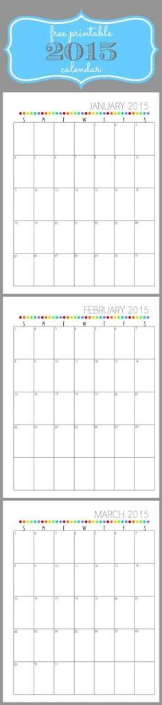 Get organized with this free  Printable 2015 Calendar!