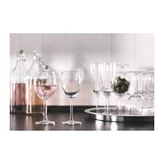 IKEA - SVALKA, Champagne glass, The glass has a tall slender shape which keeps the bubbles alive for longer, enhancing your experience of the champagne or sparkling wine.