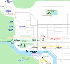 Map of Arashiyama - From Osaka, take the Hankyu Kyoto Line from Hankyu Umeda Station to Katsura and then the Hankyu Arashiyama Line to Arashiyama.