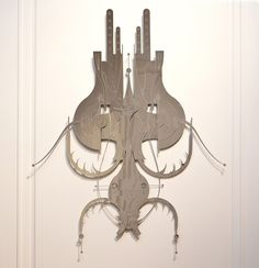 From a Near Future - Solo Show by Francisco Miranda, via Behance Near Future, Art Nouveau, Eye Candy, Ceiling Lights, Black And White, Wood, Inspiration, Beautiful, Design