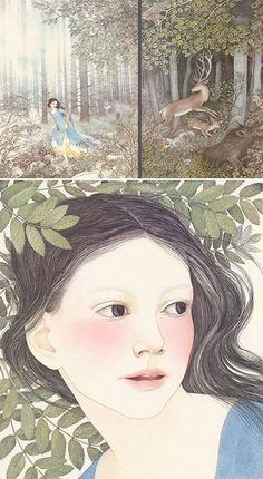 Snow-white and the Seven Dwarfs, illustrated by Nancy E. Berkert