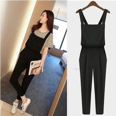 Online Shop 2014 New Free shipping Plus size Korean rompers Womens Jumpsuit bodysuit playsuit Overalls Casual Skinny Girls Pants Jeans |Aliexpress Mobile