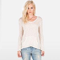 Volcom Juniors Go Go Go VNeck Sweater Pullover Hoody Cream Medium >>> For more information, visit image link.