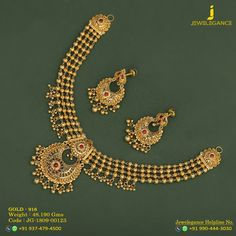 Gold 916 Premium Design Get in touch with us on Gold Finger Rings, Necklace Designs, Ring Designs, Bridal Necklace Set, Temple Jewellery, Simple Necklace, Jewelry Patterns, Indian Jewelry, Gold Choker