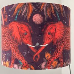 Excited to share this item from my #etsy shop: Zambezi velvet lampshade in Wine by Emma J shipley fabric Red Leopard, Leopard Spots, British Standards, William Morris, Light Shades, Elephants, Drum, Velvet, Wine