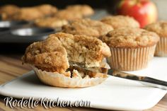 Rodelle Vanilla Apple Streusel Muffin! Get the recipe: http://www.rodellekitchen.com/our-recipes/rodelle-vanilla-apple-streusel-muffin
