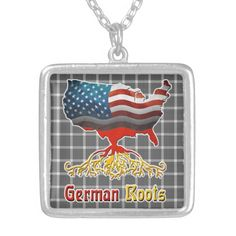 American #German Roots Necklace available to purchase at #Zazzle #GermanAmerican #Ancestry #Europe #GermanFlag