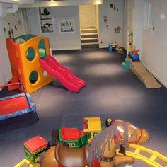 Carpet Runners For Stairways #CarpetRunnersLaunceston Key: 1647682862 #CarpetsForKids Basement Play Area, Unfinished Basement Playroom, Garage Playroom, Playroom Flooring, Kids Basement, Foam Flooring, Basement Ideas, Playroom Ideas, Carpets For Kids