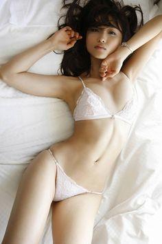 Sexy lingerie girl asian ass