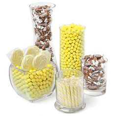 Yellow and Brown - Baby Shower Candy Buffet Kit | BigDotOfHappiness.com #BigDot #HappyDot