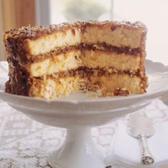 Alabama Lane Cake : This cake improves in flavor as it ages and mellows. Covered and uncut, it may be made two days before serving, and it doesn't need to be refrigerated.