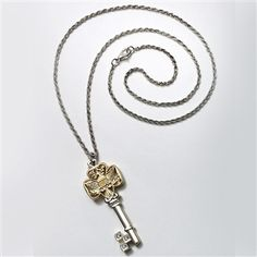 Girl Scout Heritage Trefoil Key Pendant is a finely crafted necklace featuring a two-tone traditional logo key pendant accented with three clear stones. Girl Scout Leader, Girl Scout Troop, Girl Scout Bridging, Key Crafts, Daisy Girl Scouts, Gold Necklace, Pendant Necklace, Key Pendant, Key Chain