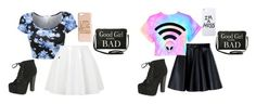"""""""Out to eat in Paris with Jade"""" by shawnily on Polyvore featuring MSGM, Topshop, Breckelle's, H&M, LAUREN MOSHI and Torrid"""