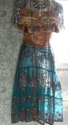 Boho Gypsy Dress from Etsy