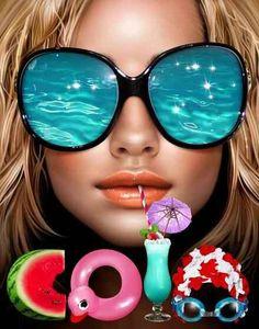 Summer reflections!!! Bebe'!!! Cool!!!