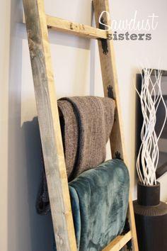 Diy Blanket Ladder More Blanket Ladder Ideas