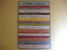 More family rules