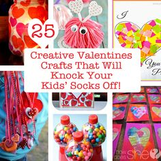 25 Creative Valentines Crafts That Will Knock Your Kids' Socks Off! howdoesshe.com