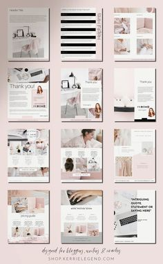 Digital Marketing Strategy, Content Marketing, Media Marketing, Indesign Templates, Templates Free, Blogger Templates, Business Templates, Book Layout, Blog Planner