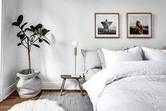 Cozy Gray And White Bedroom Ideas,Bedroom Ideas For Small Rooms,Bedroom Decor On A Budget,Bedroom Decor Ideas Color Schemes Minimalist Bedroom, Modern Bedroom, Minimalist Scandinavian, Bedroom Rustic, Stylish Bedroom, Scandinavian Style, Home Interior, Interior Design, New Room