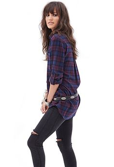 Oversized Plaid Flannel | FOREVER21 - 2000067252 <3 <3 <3  LOVE PLAID