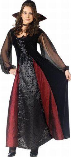 Amazon.com: Female Vampire Costume - Dress, Choker and Collar: Clothing