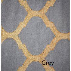metallic gold kilim wool moroccan trellis rug