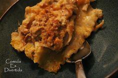 Comida es Divertida: Meaty Pumpkin Lasagna