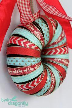 Holiday Mason Jar Lid Washi Tape Wreath